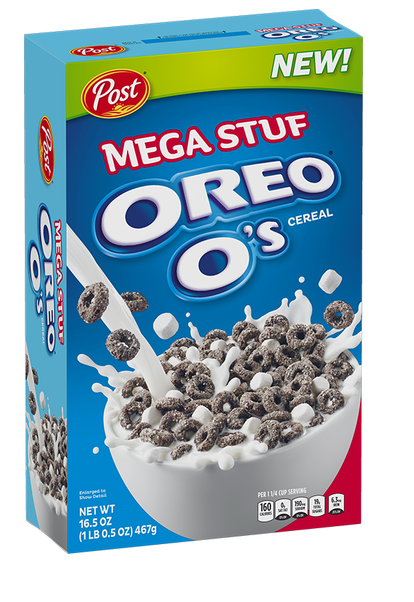 Mega Stuf Oreo Cereal Box
